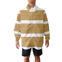 Beige/ Brown and White Stripes Design Wind Breaker (Kids)