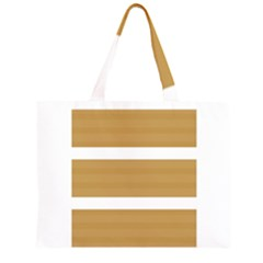 Beige/ Brown and White Stripes Design Large Tote Bag