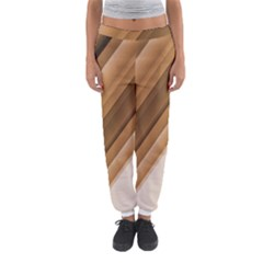 Metallic Brown/Neige Stripes Women s Jogger Sweatpants