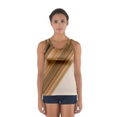 Metallic Brown/neige Stripes Tops