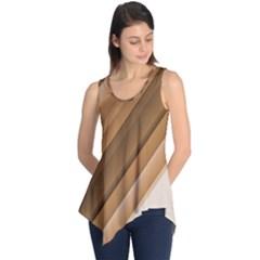 Metallic Brown/neige Stripes Sleeveless Tunic