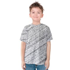 Silver abstract and Stripes Kid s Cotton Tee