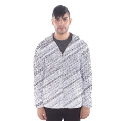 Silver abstract and Stripes Hooded Wind Breaker (Men)