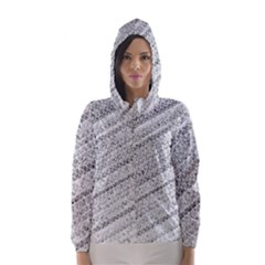 Silver abstract and Stripes Hooded Wind Breaker (Women)