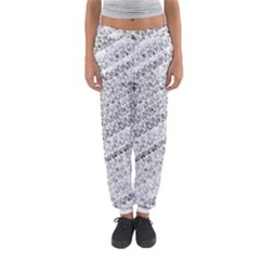 Silver abstract and Stripes Women s Jogger Sweatpants