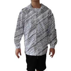 Silver abstract and Stripes Hooded Wind Breaker (Kids)
