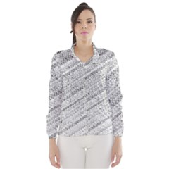 Silver abstract and Stripes Wind Breaker (Women)