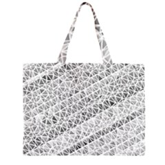 Silver abstract and Stripes Large Tote Bag