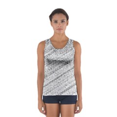 Silver abstract and Stripes Tops