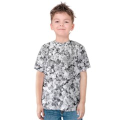 Silver Abstract Design Kid s Cotton Tee