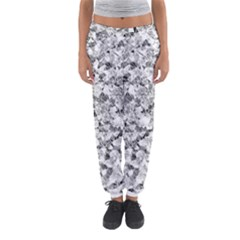 Silver Abstract Design Women s Jogger Sweatpants