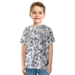 Silver Abstract Design Kid s Sport Mesh Tee