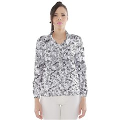 Silver Abstract Design Wind Breaker (women)