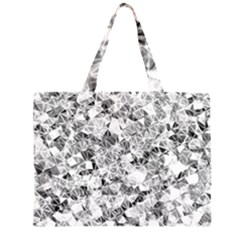 Silver Abstract Design Large Tote Bag