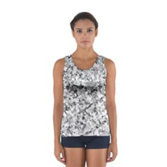 Silver Abstract Design Tops
