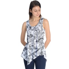 Silver Abstract Design Sleeveless Tunic