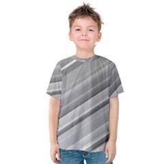 Elegant Silver Metallic Stripe Design Kid s Cotton Tee