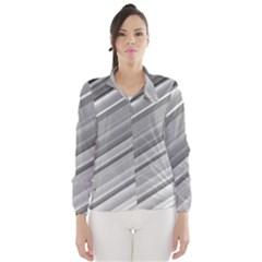 Elegant Silver Metallic Stripe Design Wind Breaker (Women)