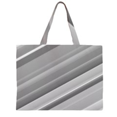 Elegant Silver Metallic Stripe Design Large Tote Bag