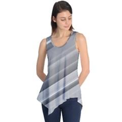 Elegant Silver Metallic Stripe Design Sleeveless Tunic