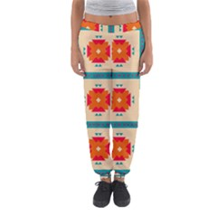 Shapes In Squares Pattern Women s Jogger Sweatpants