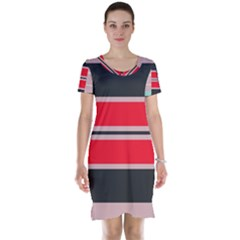 Rectangles In Retro Colors  Short Sleeve Nightdress