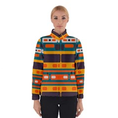 Rectangles in retro colors texture Winter Jacket