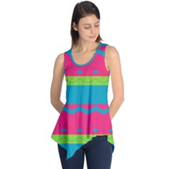 Chevrons And Stripes  Sleeveless Tunic