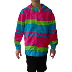 Chevrons and stripes  Hooded Wind Breaker (Kids)