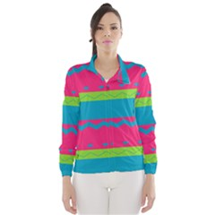 Chevrons and stripes  Wind Breaker (Women)