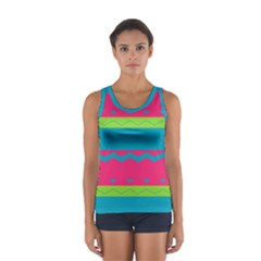Chevrons And Stripes  Women s Sport Tank Top