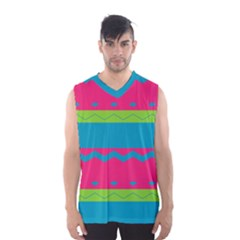 Chevrons And Stripes  Men s Basketball Tank Top