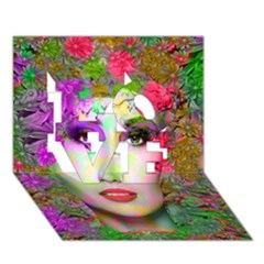 Flowers In Your Hair Love 3d Greeting Card (7x5)