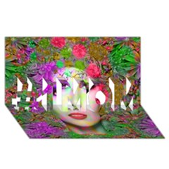 Flowers In Your Hair #1 Mom 3d Greeting Cards (8x4)