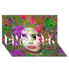 Flowers In Your Hair Engaged 3d Greeting Card (8x4)