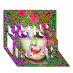 Flowers In Your Hair You Rock 3d Greeting Card (7x5)