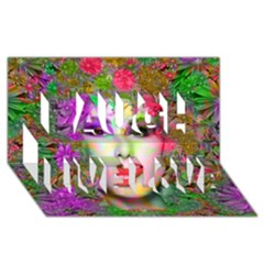 Flowers In Your Hair Laugh Live Love 3d Greeting Card (8x4)