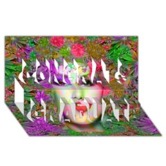 Flowers In Your Hair Congrats Graduate 3d Greeting Card (8x4)