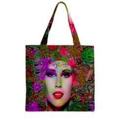 Flowers In Your Hair Zipper Grocery Tote Bag