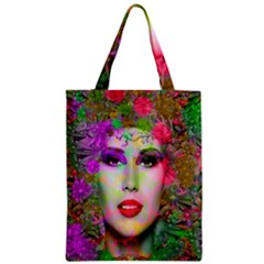Flowers In Your Hair Zipper Classic Tote Bag