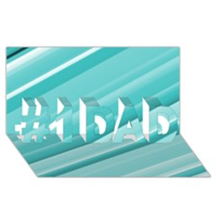 Teal And White Fun #1 Dad 3d Greeting Card (8x4)