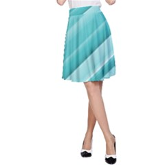 Teal And White Fun A Line Skirt