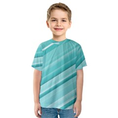 Teal And White Fun Kid s Sport Mesh Tee