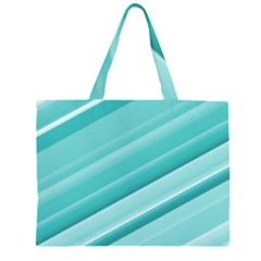 Teal and White Fun Large Tote Bag