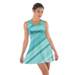 Teal And White Fun Racerback Dresses
