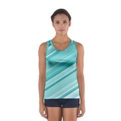 Teal and White Fun Tops