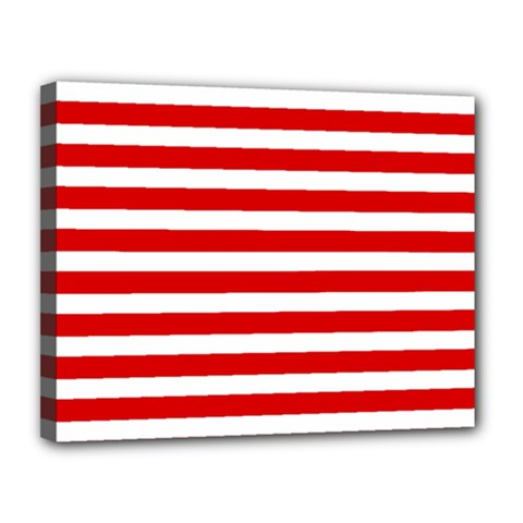 Red And White Stripes Canvas 14  X 11