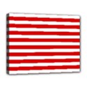 Red and White Stripes Canvas 14  x 11  View1