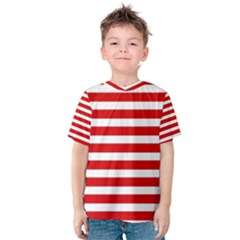 Red and White Stripes Kid s Cotton Tee