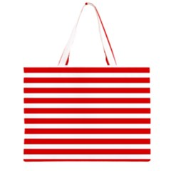 Red and White Stripes Large Tote Bag